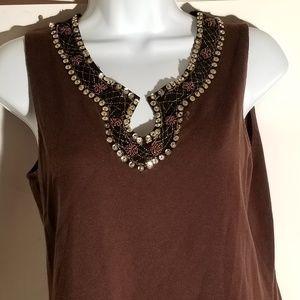 Embellished pullover top